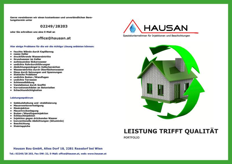 Hausan Bau GmbH Folder