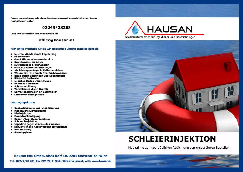 Hausan Bau GmbH Schleierinjekton Folder